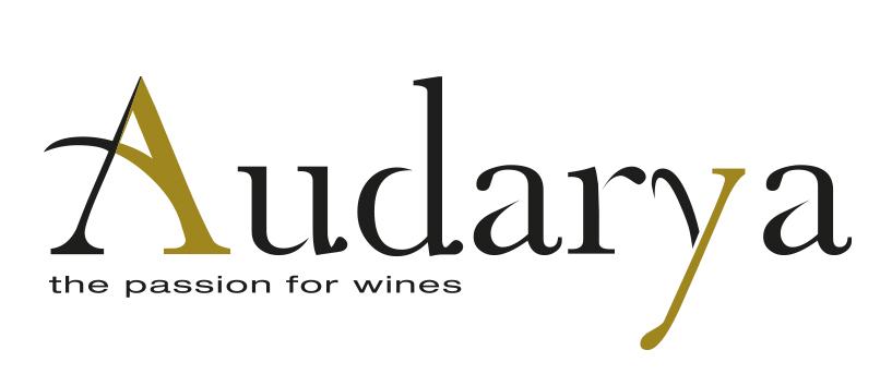 Logo Audarya con sfondo bianco