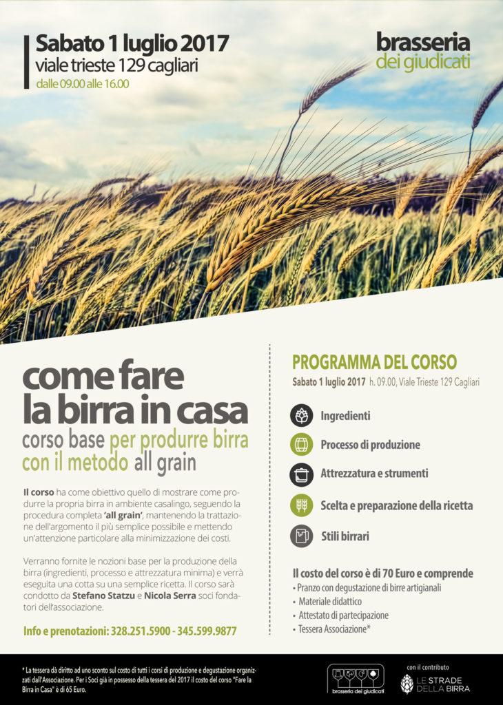 Manifesto come fare la birra in casa a Cagliari 2017