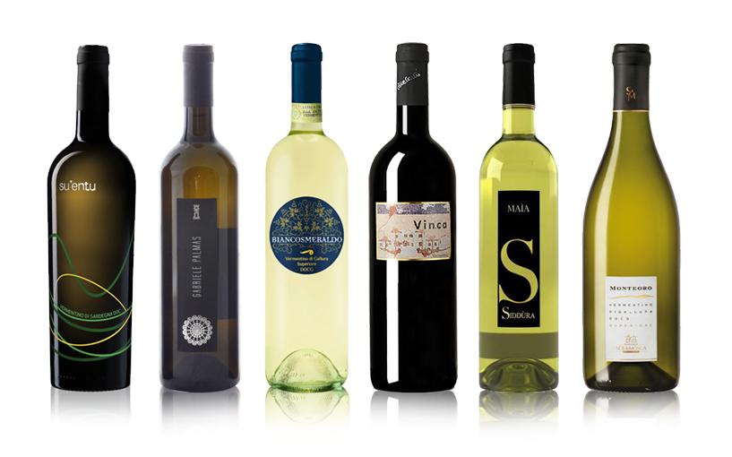 Bottiglie di Vino Vermentino Sardegna